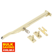 Jedo Lockable Casement Stay Polished Brass 255mm