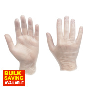 Clean Grip 100% Vinyl Disposable Gloves Clear Medium Pk100