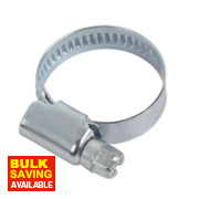 Blue Zinc-Plated Hose Clips 16-25mm Pack of 10