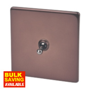 Varilight 1-Gang 2-Way 10A Mocha Metal Toggle Switch