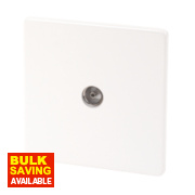 Varilight 1-Gang Ice White Coaxial TV Socket