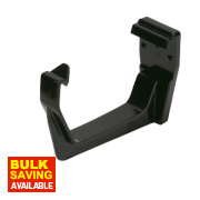 Black Square Line Fascia Bracket 114mm Pack of 10