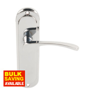 Toulouse Lever Latch Pair Polished Chrome