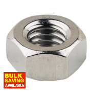 Hex Nuts A4 Stainless Steel M6 Pack of 100