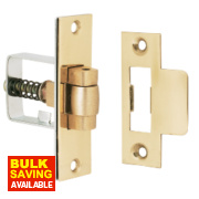 Roller Bolt Catches Polished Brass 32mm