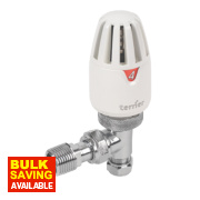 Pegler Terrier II White & Chrome TRV 10mm Angled