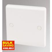 LAP 1-Gang Blank Plate White