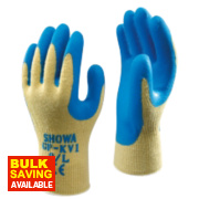 Showa GP-KV1 Cut 4 Kevlar Gloves Yellow/Blue X Large