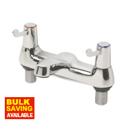 H & C ¼ Turn Dual Commercial Lever Bath Filler Bathroom Tap