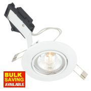 LAP Adjustable Round Low Voltage Downlight White 12V