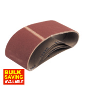 Cloth Sanding Belts Unpunched 100 x 560mm 80 Grit Pack of 5