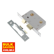 Century Bathroom Mortice Lock Polished chrome 22 x 64mm