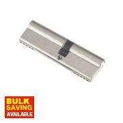 Century 5-Pin Euro Double Cylinder Lock 35-45 (80mm) Nickel