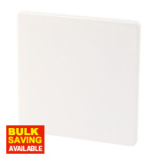 Varilight Ice White Single Blank Plate