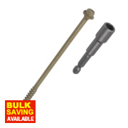 Timberfix Plus Flanged Hex Exterior Timber Screws 6.3 x 150mm Pk50