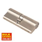 Yale 6-Pin Euro Cylinder Lock BS 40-40 (80mm) Satin Nickel