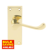 Carlisle Brass Victorian Lever Latch Door Handle Pair Polished Brass