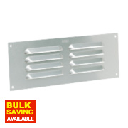 Map Vent Fixed Louvre Vent Silver 76 x 229mm