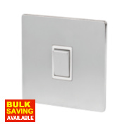 LAP 1-Gang 2-Way 10AX Light Switch Brushed Chrome