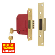 ERA 5 Lever Mortice Deadlock Brass Effect 3