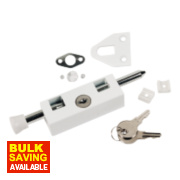 Sterling Multipurpose Door Bolt White