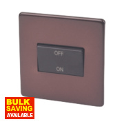 Varilight 1-Gang Mocha Fan Isolator Switch