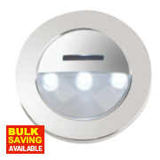 Halolite Eyelid LED Cabinet Plinth Light Polished Chrome