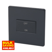 Varilight 1-Gang Jet Black Fan Isolator Switch