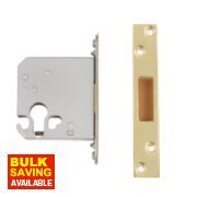 Securefast Euro Cylinder Deadlock Polished Brass 3