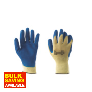 Keepsafe Cut 3 Kevlar Grip Latex-Coated Palm Gloves Blue Large
