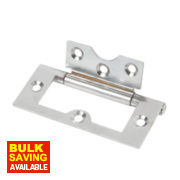 Flush Hinge Polished Chrome 76 x 33mm Pack of 2