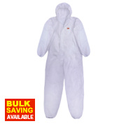 3M 4515 Type 5/6 Disposable Coverall White Lge/X Lge 42-45