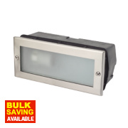 Corsica CFL Brick Light Stainless Steel 40W