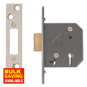 Yale 5-Lever Mortice Deadlock Polished Chrome 2½