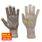 Stanley Wool Winter Dot Gripper Gloves Grey Large
