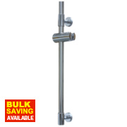 Swirl Tubular Minimalistic Modern Riser Rail S/Steel Chrome 610mm
