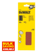 DeWalt 93 x 190mm 80 Grit 1/3 Sanding Sheets Pack of 10