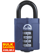 Squire Steel All-Weather Combination Padlock Black 48mm