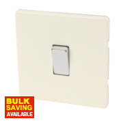 Varilight 1-Gang 10A White Choc Intermediate Metal Rocker Switch