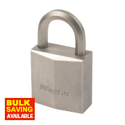 Master Lock Padlock Nickel Plated Brass 40mm