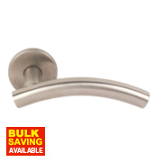 Eclipse Lever On Backplate Latch Pair Satin Stainless Steel