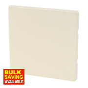 Varilight White Choc Single Blank Plate