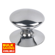 Traditional Victorian Cabinet Door Knob Polished Chrome 25mm Pack of 5