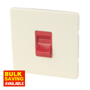 Varilight 1-Gang 45A White Chocolate Red Cooker Switch SP