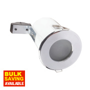 Robus Fixed Round Low Volt Fire Rated Downlight Polished Chrome 12V