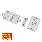 Bathroom Indicator Bolt Satin Chrome