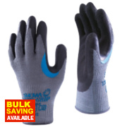 Showa 330 Reinforced Grip Gloves Grey Large