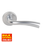 Serozzetta Cinco Lever Door Handles Type B Pair Satin Chrome