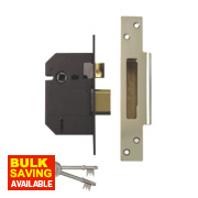 Yale 5-Lever Mortice Sashlock Polished Chrome 2.5