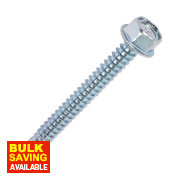 Rawlplug Self-Drilling Roofing to Steel Screws 6.3 x 120 x 5.57mm Pk100